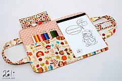 Detské tašky - Detský kufrík - pastelkovník Happy Harvest ružový - 7841806_