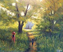 Obrazy - Lesní stezka - 7837609_