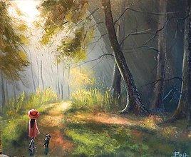 Obrazy - Lesní světlo - 7837615_