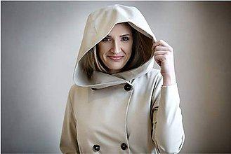 Kabáty - Béžový trenčkot s kapucí - 7837563_