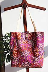Nákupné tašky - Taška pro velké slečny, paní- Růžový orient - 7841468_