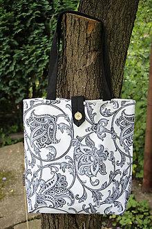 Nákupné tašky - Taška pro velké slečny, paní - Černá romance - 7841514_
