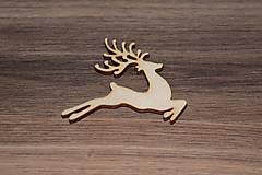 - Drevený výrez - Skákajúci jeleň 7cm - 7841084_