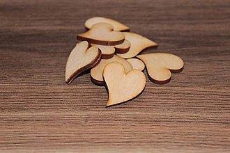 Polotovary - Drevené srdce francúzske 3cm/10ks - 7841383_