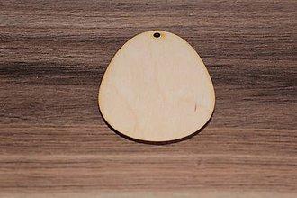 Polotovary - Drevené vajíčko7cm x 9,5cm - 7841610_