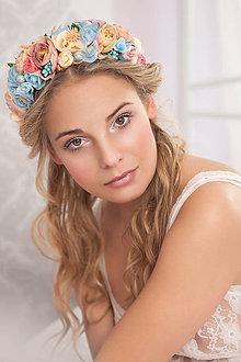 Ozdoby do vlasov - Romantický nežný kvetinový set - 7839843_