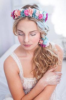 Ozdoby do vlasov - Romantický nežný kvetinový set - 7839897_