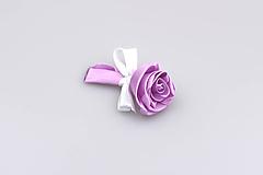 Pierko fialové ruža (fialovo-biele)