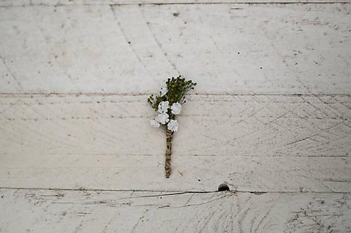 """Kvetinové pierko pre svedkov či otcov """"biely závoj"""""""