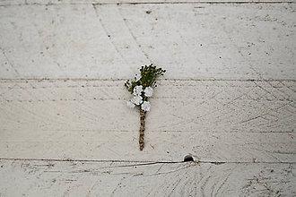 Pierka - Kvetinové pierko pre svedkov či otcov \