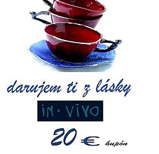 Darčekové poukážky - darčeková poukážka  in vivo 20 € - 7839492_