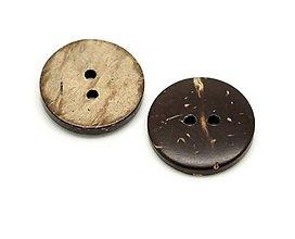 Galantéria - Kokosový gombík 3cm - 7840906_