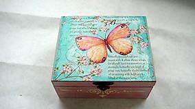 Krabičky - Čajová krabička Motýľ  - 7840369_