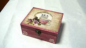 Krabičky - Čajová krabička TEA Time - 7840860_
