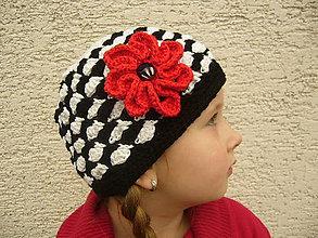 Detské čiapky - Háčkovaná čiapka PIEROT - 7844401_