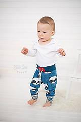 Detské oblečenie - Tepláky modrá panda - 7846309_