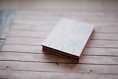 Papiernictvo - Ručne šitý zápisník - ruže - 7845665_