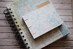 Papiernictvo - Ručne šitý zápisník - ruže - 7845666_