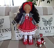 Bábiky - Červená s darčekmi - 7845041_