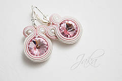 Náušnice - Náušnice light pink - 7846256_