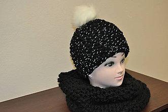 Čiapky - Čierna reflexná čiapka - 7844006_