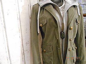 Kabáty - Army green s kapucňou - 7846126_