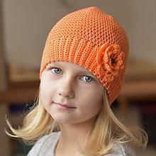 Detské čiapky - Jasná oranžová čiapka - 7845275_
