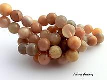 Korálky - Korálka slnečný kameň 8 mm - 7844151_