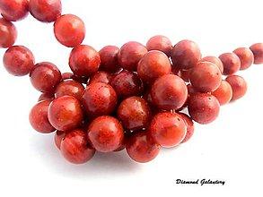 Korálky - Oranžovo červený koral 8 mm - 7842768_