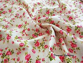 Textil - Bavlna režná - kvetinky - cena za 10 cm - 7845595_