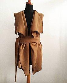 Iné oblečenie - Camel vesta - 7845485_