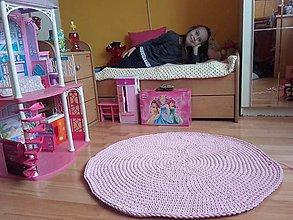 Úžitkový textil - Hráme sa :) ružový koberec - 7845190_
