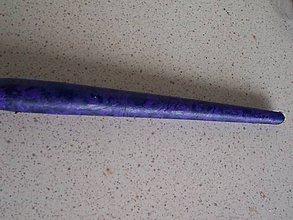 Drobnosti - Vysoká sviečka modrofialová - 7844121_