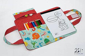 Detské tašky - Detský kufrík na kreslenie - pastelkovník In The Ocean - 7846011_