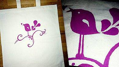 Nákupné tašky - Folková taška - Vtáčik II. - 7843039_