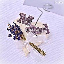 Darčeky pre svadobčanov - Levanduľa - menovky/darčeky pre svadobčanov - 7845106_