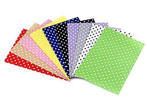 Textil - GAL6672, Látková dekoratívna plsť s bodkami 20x30 cm/10ks v balení - 7846235_