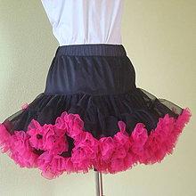 Sukne - Dámska sukňa Puf-Puf čierno cyklamenová - 7843644_