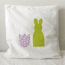 Úžitkový textil - Obliečka veľkonočná Zajo a tulipán - 7843356_