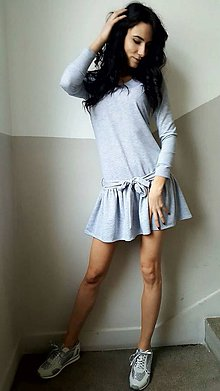 Šaty - Šaty Mona sivé - 7844789_