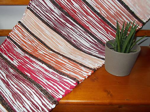 3f635cf759a9 Melírový koberec - odtiene červenej   valea - SAShE.sk - Handmade ...