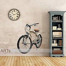 Dekorácie - (3571f) Nálepka na stenu - Bicykel retro - 7848611_