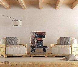 Dekorácie - (3572f) Nálepka na stenu - Vozík - 7848663_