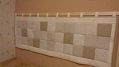 Úžitkový textil - zástena nad posteľ 60 x 200 cm + putka - 7850871_