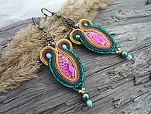 - SUPER CENA! Soutache náušnice Colors of India - 7849340_