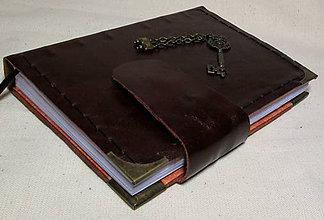 Papiernictvo - Kráľ kľúčov (koža) - 7848411_