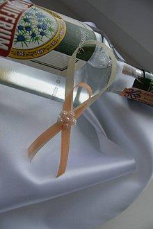 Pierka - ozdoby na fľaše šampanské s marhuľovou - 7847684_