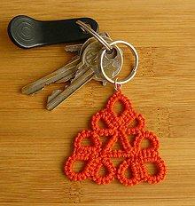 Kľúčenky - Oranžový triangel - 7850260_