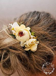 Ozdoby do vlasov - vanilkový účes - 7847203_