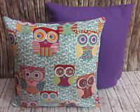 Úžitkový textil - Obliečka na vankúš - sovičky - 7849757_